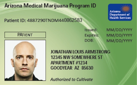This card makes you legal in Arizona to use, possess, share with other patients, and to purchase Legal Marijuana from Legal Sources without discrimination ...